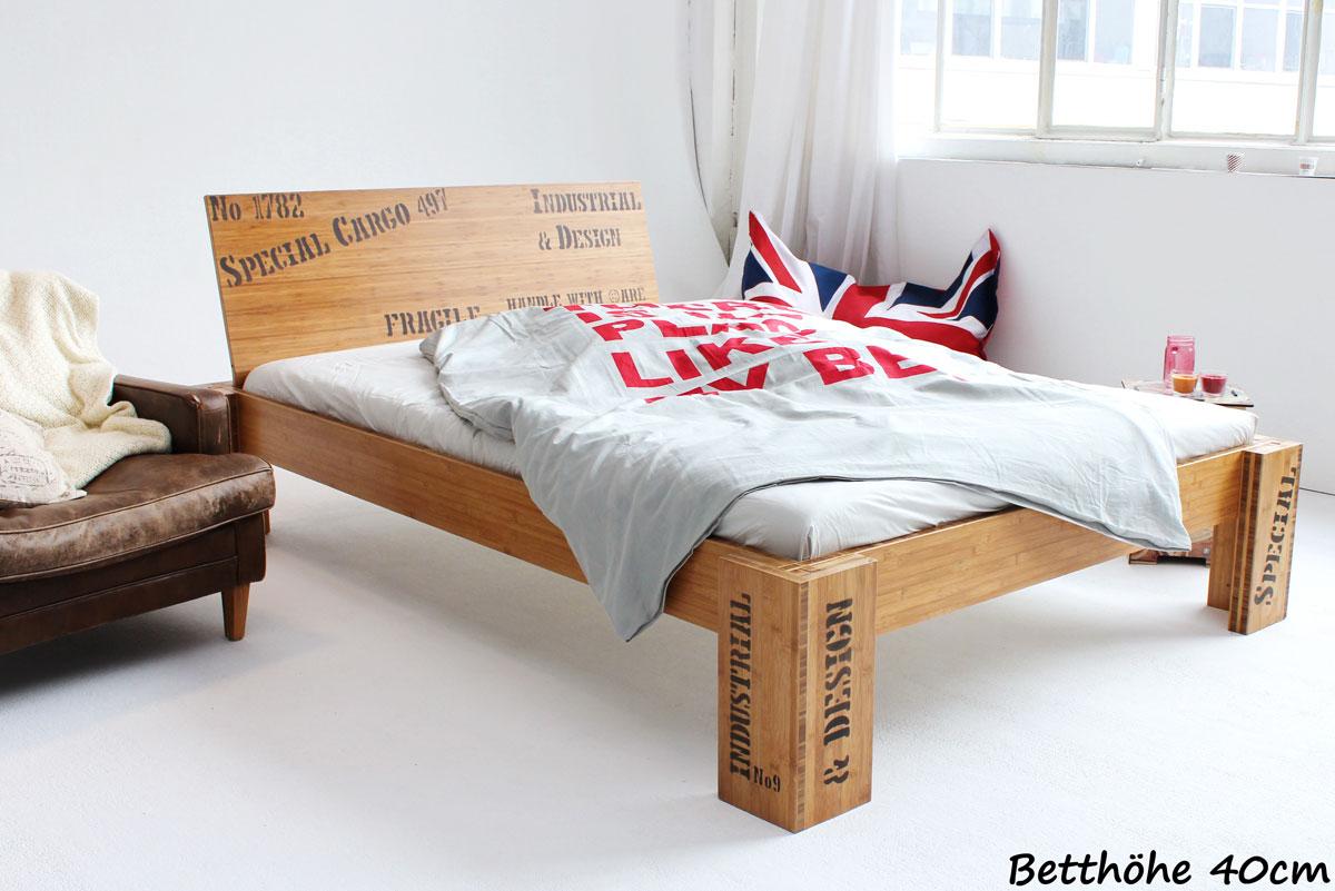 betten in bergr e 220 cm l nge bett aus bambus. Black Bedroom Furniture Sets. Home Design Ideas