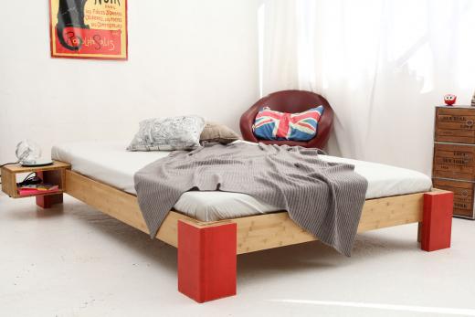 OSAKA Bambusbett ohne Rückenlehne 160x200cm