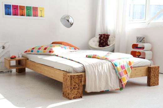 TIGON Bambusbett ohne Rückenlehne 120x220cm