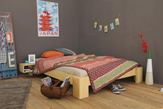 SUVA Bambusbett ohne Rückenlehne 140x220cm