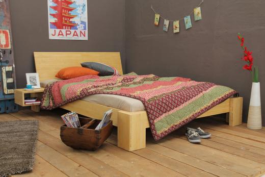 SUVA Bambusbett mit Rückenlehne Hainan 180x220cm