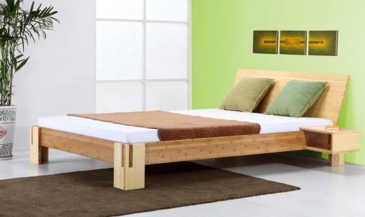Sumba Bambusbett mit Rückenlehne Hainan 140x220cm