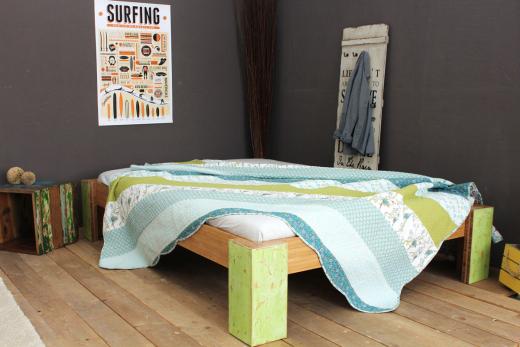 PALAU Bambusbett ohne Rückenlehne 90x200cm