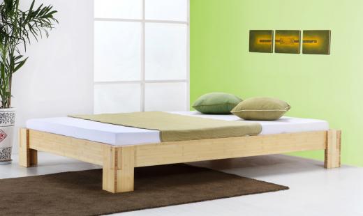 JAVA Bambusbett ohne Rückenlehne 160x220cm