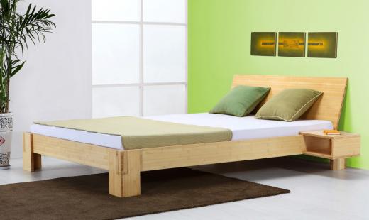 Java Bett Bambus mit Rückenlehne