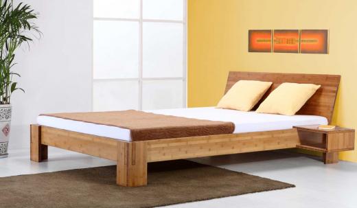 BALI Bambusbett mit Rückenlehne Hainan 120x200cm