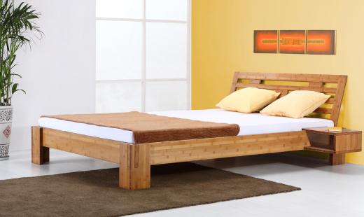 BALI Bambusbett mit Rückenlehne Melaka 200x200cm