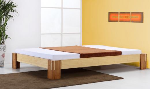 TIMOR Bambusbett ohne Rückenlehne