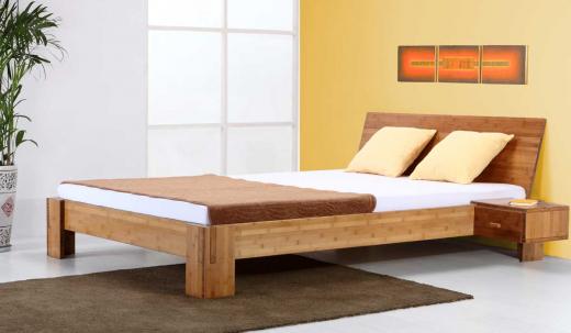 ANGEBOT Bambusbett BALI 90x220cm inkl. Lattenrost und Matratze