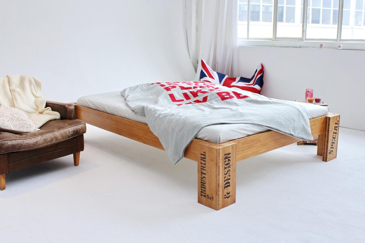 bambusbett opus bett aus bambus 160x220cm. Black Bedroom Furniture Sets. Home Design Ideas