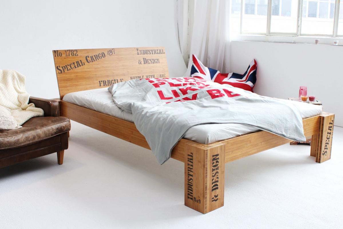 opus bambusbett mit r ckenlehne hainan 160x220cm. Black Bedroom Furniture Sets. Home Design Ideas
