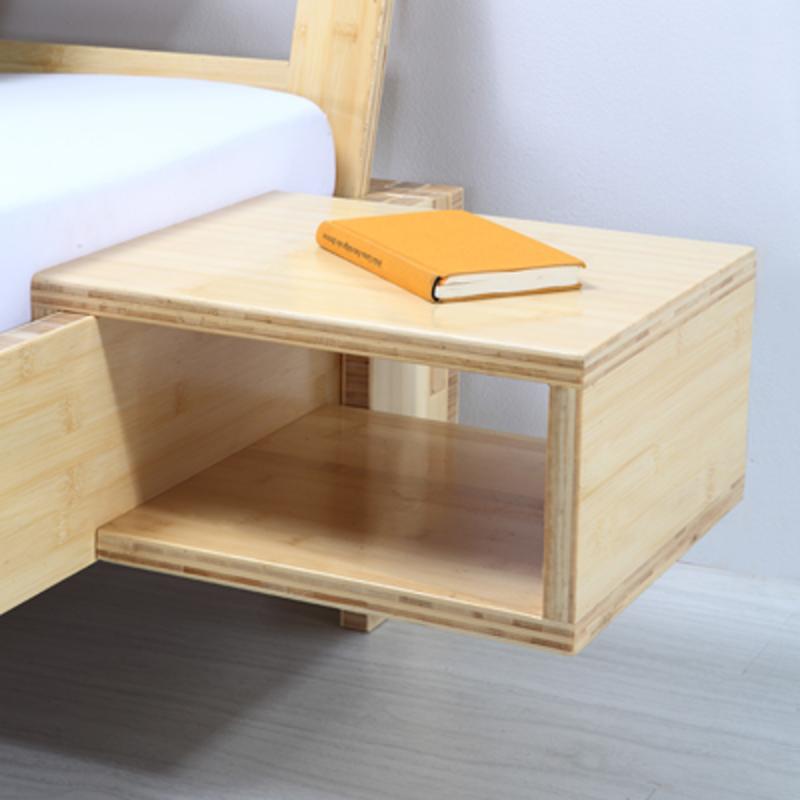 Bambusnachttisch yin natur passend zu bambusbett for Bett yin yang