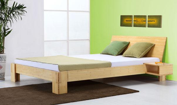 angebot bambusbett java komplett mit lattenrost und matratze. Black Bedroom Furniture Sets. Home Design Ideas