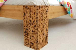 TIGON Bambusbett mit Rückenlehne Hainan 200x200cm