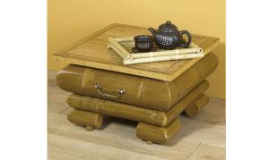 NOA Bambus Nachttisch braun passend zu Bett MAUI, TIAM!