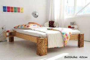 TIGON Bambusbett ohne Rückenlehne 140x220cm