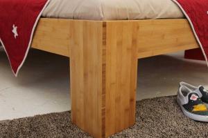 BURMA Bambusbett mit Rückenlehne Melaka 140x220cm