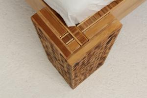 TIGON Bambusbett mit Rückenlehne Hainan 180x220cm