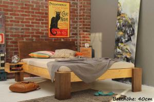 HAVANNA Bambusbett mit Rückenlehne Hainan 90x200cm