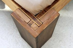 HAVANNA Bambusbett mit Rückenlehne Hainan 90x220cm