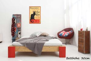 OSAKA Bambusbett ohne Rückenlehne 90x220cm