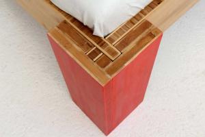 OSAKA Bambusbett mit Rückenlehne Hainan 90x220cm