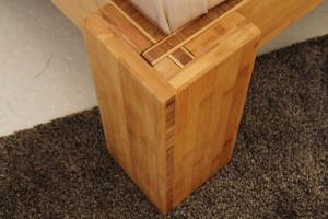 BURMA Bambusbett mit Rückenlehne Hainan 90x220cm
