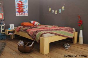 SUVA Bambusbett ohne Rückenlehne 200x200cm