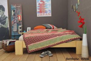 SUVA Bambusbett ohne Rückenlehne 120x200cm