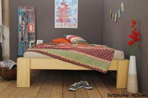 SUVA Bambusbett ohne Rückenlehne 90x200cm