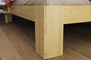 SUVA Bambusbett mit Rückenlehne Hainan 90x200cm