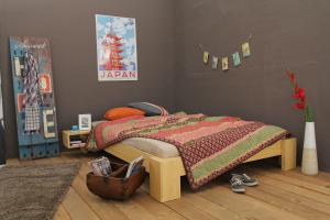 SUVA Bambusbett ohne Rückenlehne 90x220cm
