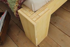 SUVA Bambusbett mit Rückenlehne Hainan 90x220cm