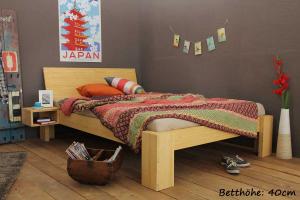 SUVA Bambusbett mit Rückenlehne Hainan 120x220cm