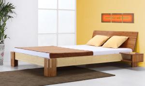 Timor Bambusbett mit Rückenlehne Hainan 160x200cm