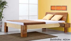 Timor Bambusbett mit Rückenlehne Hainan 160x220cm