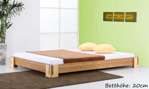 SUMBA Bambusbett ohne Rückenlehne 160x220cm