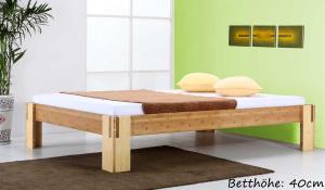 SUMBA Bambusbett ohne Rückenlehne 200x200cm