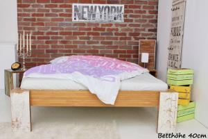 TIBET Bambusbett ohne Rückenlehne 200x220cm