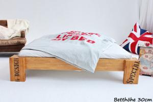 OPUS Bambusbett ohne Rückenlehne 200x220cm