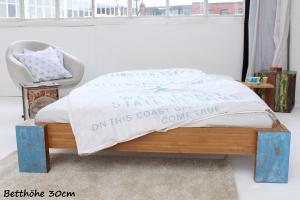 ARUBA Bambusbett ohne Rückenlehne 200x220cm