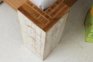 TIBET Bambusbett mit Rückenlehne Hainan 200x200cm