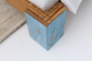 ARUBA Bambusbett ohne Rückenlehne 200x200cm