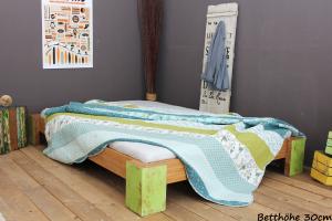 PALAU Bambusbett ohne Rückenlehne 200x200cm