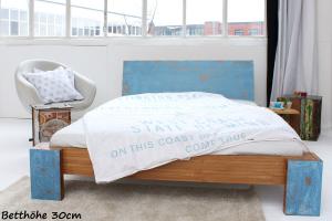 ARUBA Bambusbett mit Rückenlehne Hainan 140x200cm