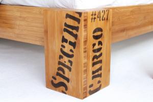 OPUS Bambusbett mit Rückenlehne Hainan 120x200cm
