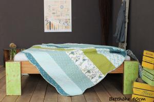 PALAU Bambusbett ohne Rückenlehne 140x220cm
