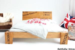OPUS Bambusbett mit Rückenlehne Hainan 140x220cm