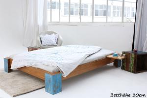 ARUBA Bambusbett ohne Rückenlehne 120x220cm