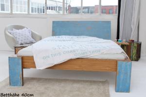 ARUBA Bambusbett mit Rückenlehne Hainan 120x220cm
